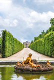 Floraspringbrunn i den Versailles slottträdgården, Frankrike Arkivbilder
