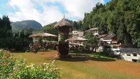Floratuin in het noorden van Thailand Stock Foto