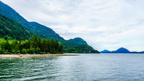 The flord of Howe Sound and surrounding Mountains Royalty Free Stock Photography