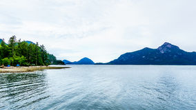 The flord of Howe Sound and surrounding Mountains Royalty Free Stock Image