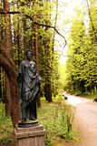 Flore-goddess of flowers. St. Petersburg, Pavlovsk Park, place-12 of paths. In Pavlovsk Park there is a beautiful place which is called 12 paths royalty free stock photo