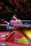 Flore Tristan. From France. Men`s Singles Round of 32 world table tennis championships in Dusseldorf. 29 May 6 june 2017 royalty free stock photos