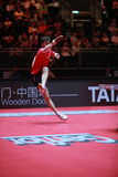 Flore Tristan. From France. Men`s Singles Round of 32 world table tennis championships in Dusseldorf. 29 May 6 june 2017 royalty free stock images
