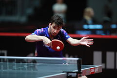Flore Tristan. From France. Men`s Singles Round of 32 world table tennis championships in Dusseldorf. 29 May 6 june 2017 stock photo