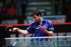 Flore Tristan. From France. Men`s Singles Round of 32 world table tennis championships in Dusseldorf. 29 May 6 june 2017 stock photography