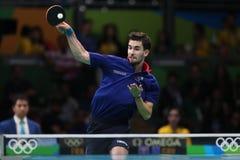 Flore Tristan jouant le ping-pong aux Jeux Olympiques à Rio 2016 image libre de droits