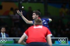 Flore Tristan jouant le ping-pong aux Jeux Olympiques à Rio 2016 Photo libre de droits