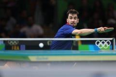 Flore Tristan que joga o tênis de mesa nos Jogos Olímpicos no Rio 2016 Fotografia de Stock Royalty Free