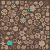 Floreal brown background Stock Images