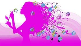 Floreal flicka Arkivbild