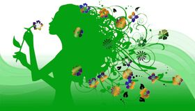 Floreal girl Royalty Free Stock Image