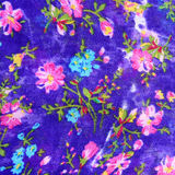 Floreal Oriental pattern fabric Royalty Free Stock Photography