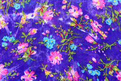 Floreal Oriental pattern fabric Royalty Free Stock Images