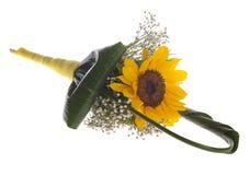 Floreal składu słonecznika torebka Zdjęcie Stock
