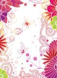 Floreale & farfalla Fotografia Stock