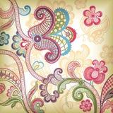 Floreale astratto e farfalla illustrazione di stock