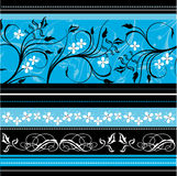 Floreale blu Fotografia Stock