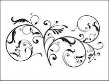 Floreale con l'illustrazione artistica Fotografia Stock