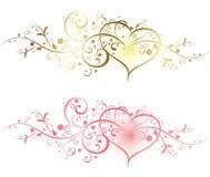 Floreale e cuore Fotografia Stock