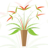 Floreale nell'illustrazione del vaso Immagine Stock Libera da Diritti