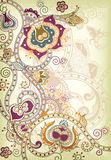 Floreale orientale royalty illustrazione gratis