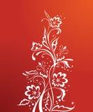 Floreale rosso Fotografie Stock Libere da Diritti