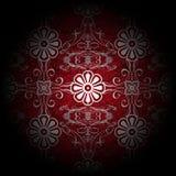 Floreale rosso di lusso Fotografia Stock