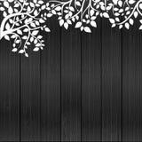 Floreale su legno Fotografia Stock
