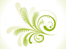 Floreale verde astratto Fotografie Stock