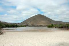 Floreana wyspy krajobraz. zdjęcia royalty free