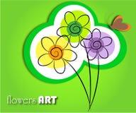 Florece arte Imágenes de archivo libres de regalías