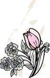Florece diseño gráfico   Foto de archivo libre de regalías