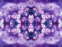 Florece el crisantemo púrpura-rosado-azul-blanco en fondo borroso fondo floral Violeta-coloreado del vintage Composición de la fl ilustración del vector