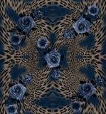florece el fondo del leopardo imagen de archivo