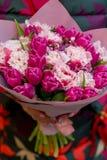 Florece el ramo con los tulipanes Fotos de archivo