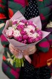 Florece el ramo con los tulipanes Imagen de archivo libre de regalías
