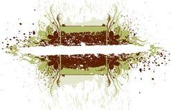 Florece la bandera del grunge stock de ilustración
