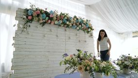Florece la decoración de la boda del evento almacen de video