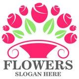 Florece la plantilla del logotipo Imágenes de archivo libres de regalías
