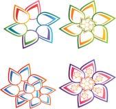 Florece logotipos Imagen de archivo libre de regalías