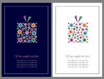 Florece tarjetas de felicitación del regalo ilustración del vector