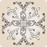 Florel calligraphic elements. vintage decor Stock Images