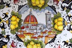 Florença - detalhe da cerâmica imagens de stock