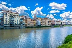 Florença e River Arno, Itália Europa Imagem de Stock