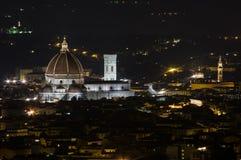 Florença em a noite Fotos de Stock Royalty Free