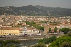 Florença, Itália - 24 de abril de 2018: vista nos telhados de Florença Fotos de Stock Royalty Free