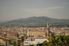 Florença, Itália - 24 de abril de 2018: vista nos telhados de Florença, Fotografia de Stock Royalty Free