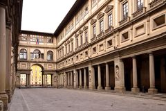 FLORENÇA, ITÁLIA - 17 DE SETEMBRO DE 2017: A galeria de Uffizi em Flor Foto de Stock