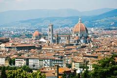 Florença, Itália, panorama, Maria del Fiore Cathedral Imagens de Stock
