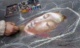 Florença - mão dos artis pelo trabalho Fotografia de Stock Royalty Free